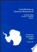 Contributions to Antarctic research