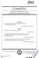 Hastings Communications and Entertainment Law Journal (Comm/Ent)