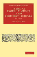 Pdf History of English Thought in the Eighteenth Century