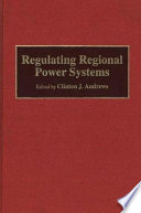 Regulating Regional Power Systems Book