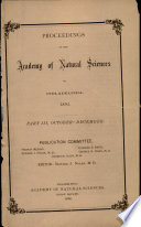 Proceedings Of The Academy Of Natural Sciences Part Iii Oct Dec 1895