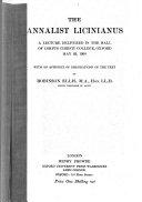 The Annalist Licinianus