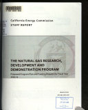 The Natural Gas Research  Development and Demonstration Program   Proposed Program Plan and Funding Request for Fiscal Year 2010 11