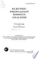 Electric Propulsion Mission Analysis  Terminology   Nomenclature