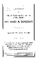 Address by the Attorney General of the United States, Hon. Harry M. Daugherty (at Canton, Ohio, October 21, 1922).