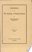 Proceedings of The Academy of Natural Sciences  Vol  CVI  1954