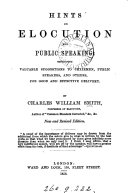 Hints on elocution and public speaking