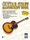 Belwin s 21st Century Guitar Staff Manuscript Book