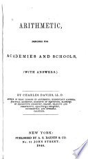 Arithmetic designed for academies and schools : with answers