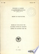 Review of Fatalities in the California Petroleum Industry During the Calender Year 1929