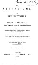 Pdf The Nestorians; Or, the Lost Tribes ... Second Edition