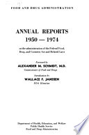 Report Of The Federal Security Agency Food And Drug Administration