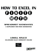 How to Excel in Finite Math Book PDF