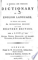 A General and Complete Dictionary of the English Language Pdf/ePub eBook