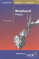 Books - Metaphysical Poetry | ISBN 9780521789608