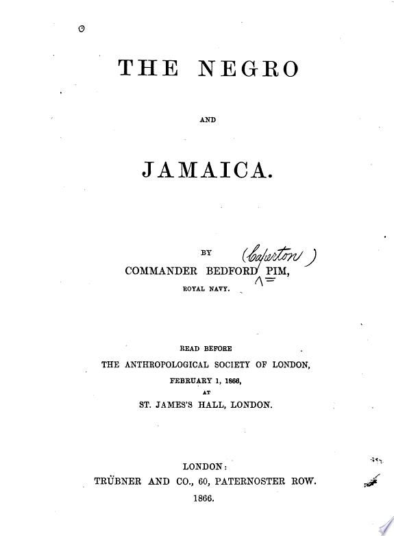 The Negro and Jamaica