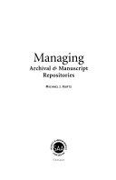 Managing Archival   Manuscript Repositories