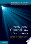 Cover of International Criminal Law Documents