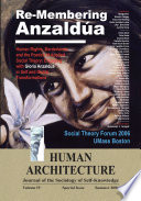 Re Membering Anzald  a  Human Rights  Borderlands  and the Poetics of Applied Social Theory  Engaging with Gloria Anzald  a in Self and Global Transformations  Proceedings of the Third Annual Social Theory Forum April 5 6  2006  UMass Boston