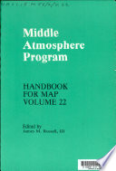 Middle Atmosphere Program: Middle atmosphere composition revealed by satellite observations