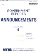 Government Reports Announcements