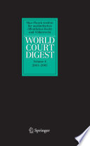 World Court Digest 2001 2005