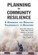 Planning for Community Resilience Book
