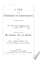 A View of the Evidences of Christianity, etc