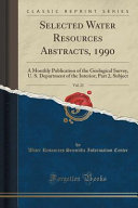 Selected Water Resources Abstracts, 1990, Vol. 23