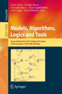 Models, Algorithms, Logics and Tools