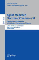Agent Mediated Electronic Commerce VI