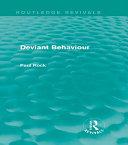 Pdf Deviant Behaviour (Routledge Revivals)