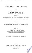 The Moral Philosophy of Aristotle