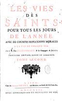 Les vies des saints pour tous les jours de l'année