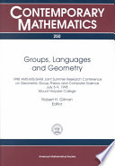 Groups Languages And Geometry
