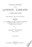 Catalogue of the London Library      Catalogue