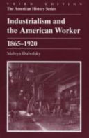 Industrialism and the American Worker  1865 1920