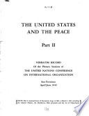 The United States and the Peace