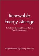 Renewable Energy Storage Book PDF