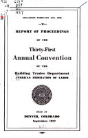 Report Of Proceedings Of The Convention
