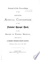 Journal of the Proceedings of The   annual Convention of the Protestant Episcopal Church in the Diocese of Western Michigan Book