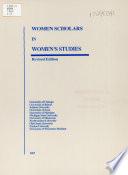 Women Scholars in Women's Studies