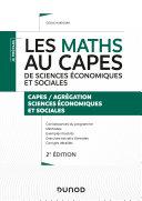 Pdf Les maths au CAPES de sciences économiques et sociales Telecharger