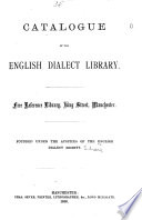 Catalogue Of The English Dialect Library Manchester