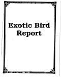 Exotic Bird Report