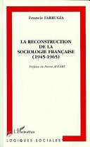 Pdf La reconstruction de la sociologie française (1945-1965) Telecharger