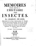 Memoires pour servir a l'histoire des insectes