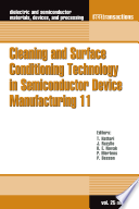 Cleaning And Surface Conditioning Technology In Semiconductor Device Manufacturing 11 Book PDF