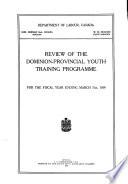 Review of the Dominion-provincial Youth Training Programme