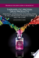 Therapeutic Protein Drug Products Book PDF